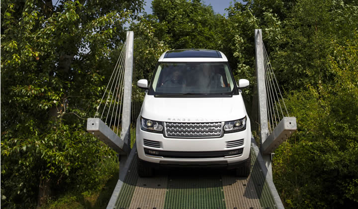 Range Rover on half day experience drive