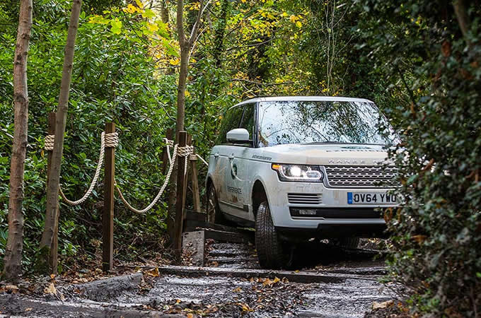 Land Rover driving in the Jungle Zone